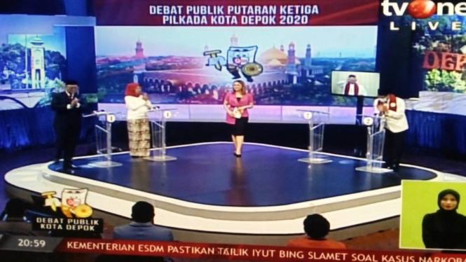 Debat calon wali kota dan wakil wali kota Depok 2020.