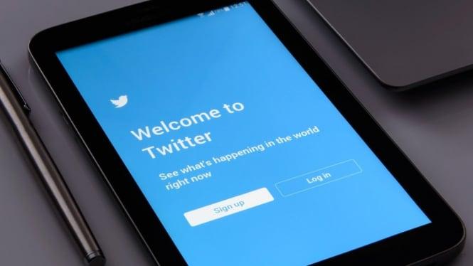 Ilustrasi aplikasi Twitter