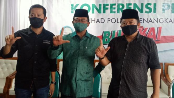 Paslon nomor urut 02 di pemilihan bupati Malang Lathifah Shohib dan Didi Budi