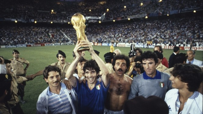 Paolo Rossi membawa Timnas Italia juara Piala Dunia 1982