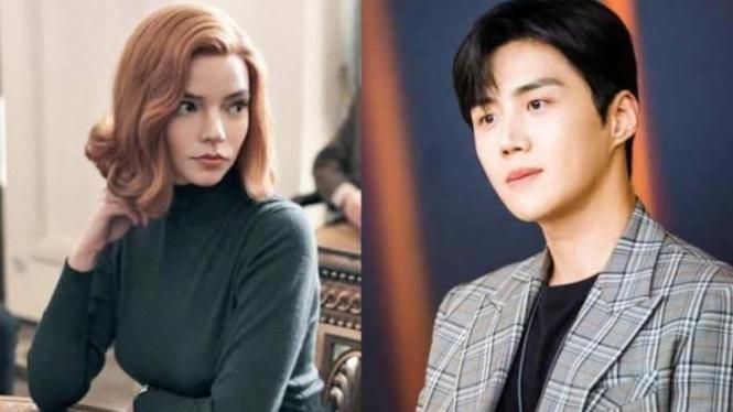 Beth Harmon dan Han Ji-pyeong.