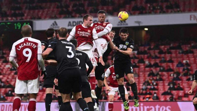 Arsenal vs Burnley di putaran pertama Premier League 2020/2021.