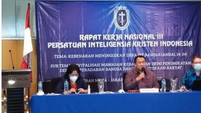 """Tema Rakernas ke-3 PIKI adalah """"Kebenaran Meninggikan Derajat Bangsa"""", Jakarta (Foto/PIKI)"""