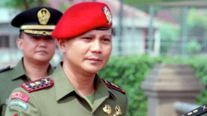 VIVA Militer: Prabowo Subiyanto saat masih berpangkat Letkol TNI