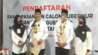 Pasangan calon H Denny Indrayana dan H Difriadi Derajat di Pilkada Kalsel