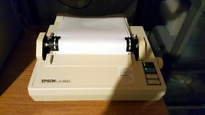 Printer dot matrix Epson LX-800