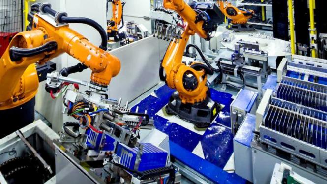 Pabrik pembuatan baterai mobil listrik milik CATL