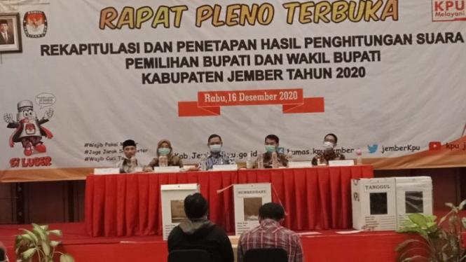 Rapat Pleno KPU Jember (antara)