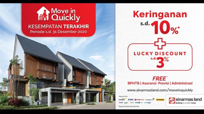 Move in Quickly dari Sinar Mas Land.