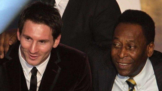 Legenda Brasil, Pele dan megabintang Barcelona Lionel Messi