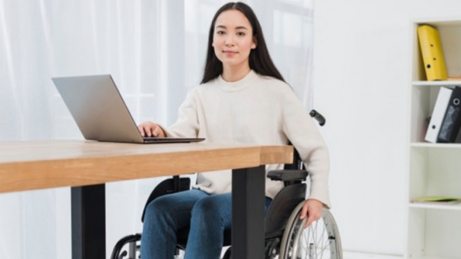 Ilustrasi penyandang disabilitas/kaum difabel.