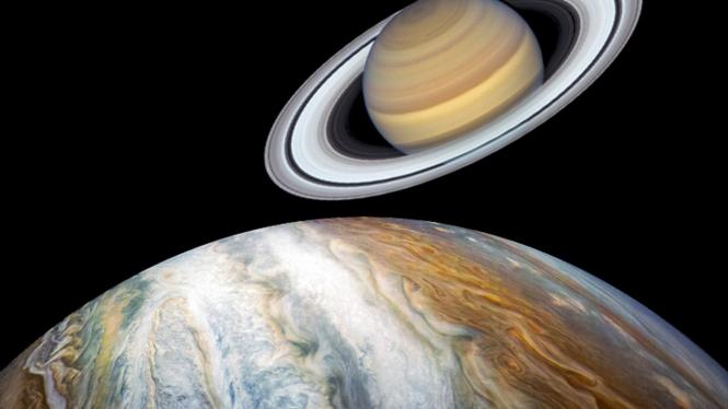 Planet Jupiter dan Saturnus.