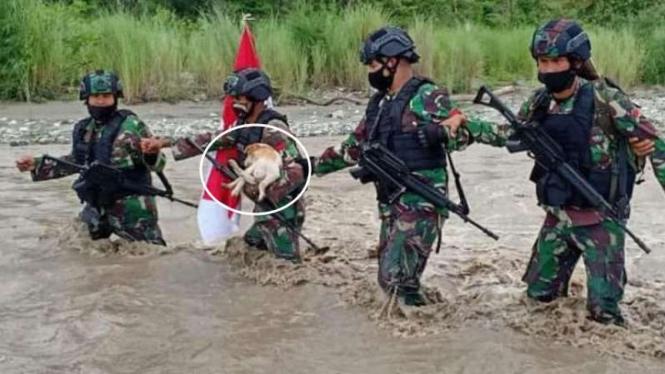 VIVA Militer: Prajurit TNI Satgas Pamtas Yonif RK 744/SYB