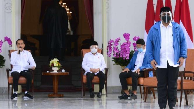 Yaqut Cholil Quoumas diumumkan jadi Menteri Agama saat diperkenalkan di Istana Merdeka, 22 Desember 2020.