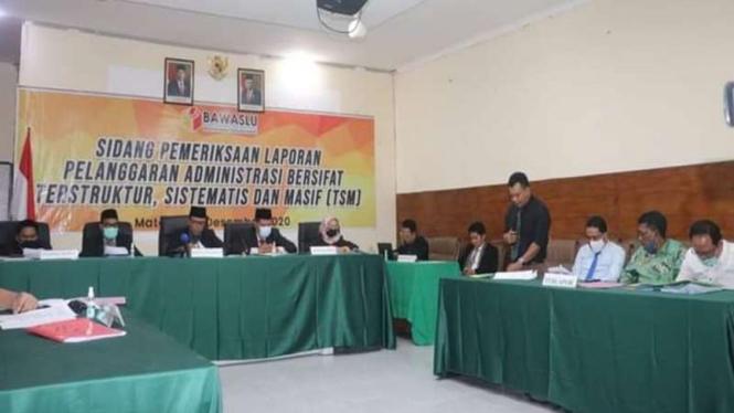 Sidang Bawaslu NTB atas dugaan pelanggaran Pilkada di Sumbawa.
