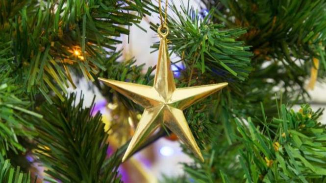 Ilustrasi pohon Natal.