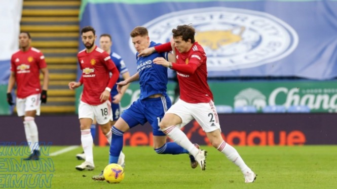 Duel Leicester City vs Manchester United.