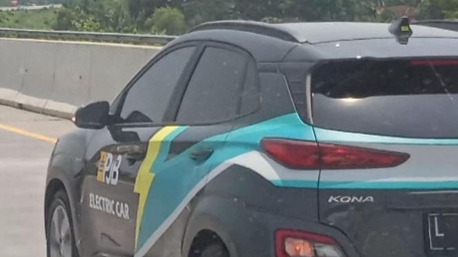 Mobil listrik Hyundai Kona.