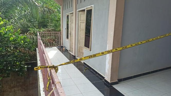 TKP indekos tempat mahasiswa Universitas Jambi ditemukan tewas