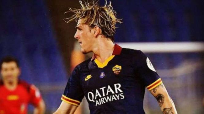Gelandang AS Roma, Nicolo Zaniolo.