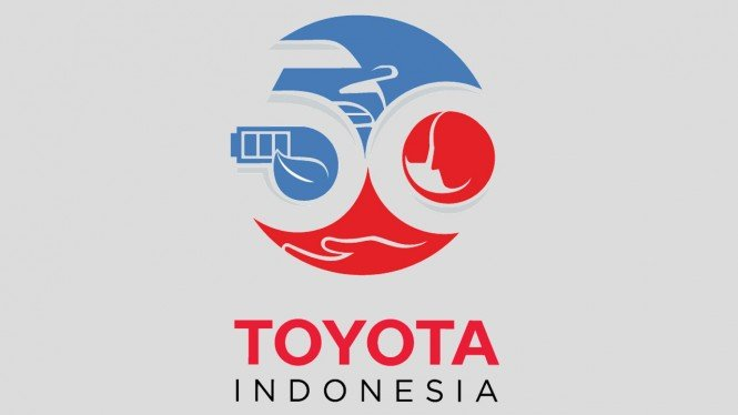 Logo peringatan 50 tahun Toyota Indonesia