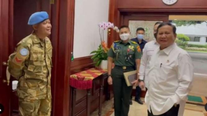 VIVA Militer: Menhan RI Letjen TNI (Purn) Prabowo Subianto