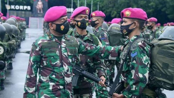 VIVA Militer: Danpasmar 1, Brigjen TNI (Mar) Hermanto lakukan pengecekan pasukan