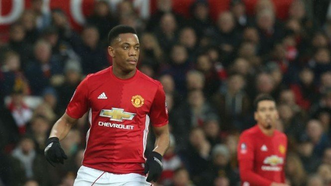 Penyerang Manchester United Anthony Martial