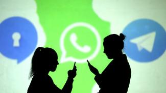 Aplikasi Signal, WhatsApp dan Telegram.