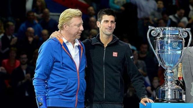 Boris Becker dan Novak Djokovic