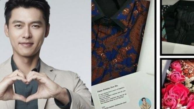 Hyun Bin dapat kiriman batik dari fans Indonesia