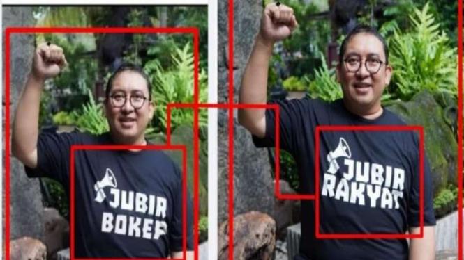 Hoax Fadli Zon pakai kaus bertuliskan Jubir Bokep