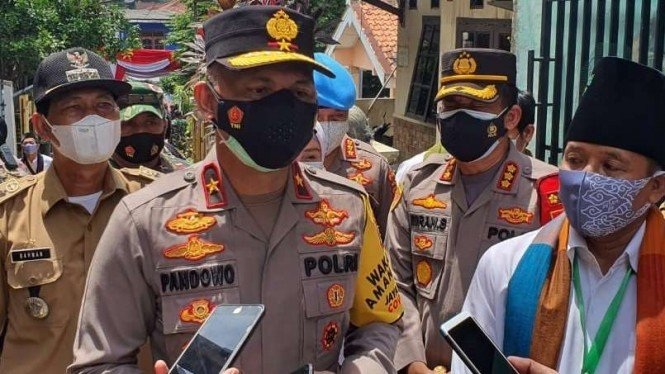 Wakapolda Metro Jaya Brigjen Hendro Pandowo di Cimanggis Depok