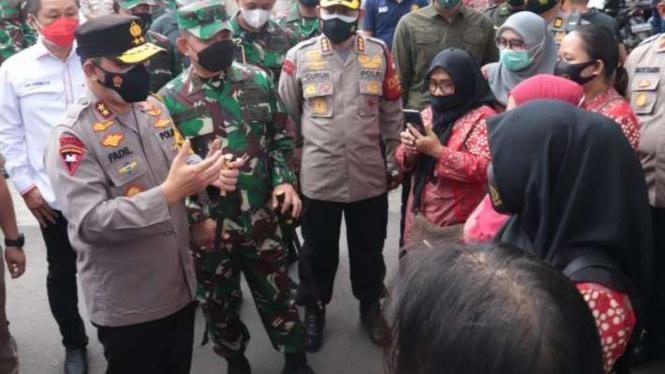 Kapolda Metro Jaya Irjen Fadil Imran dan Pangdam Jaya Mayjen Dudung Abdurrachman