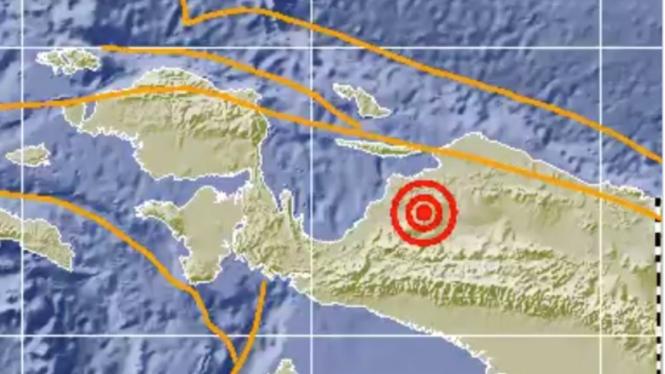Gempa Magnitudo 5,7 Guncang Waropen Papua