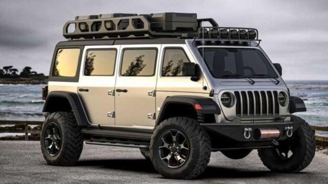 Rekaan gambar Jeep dalam wujud mobil Van.