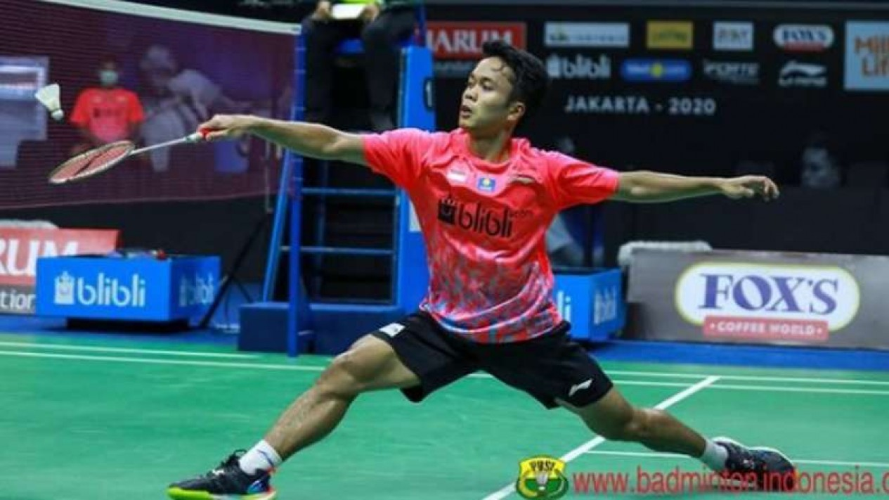 Tunggal putra Indonesia, Anthony Sinisuka Ginting.
