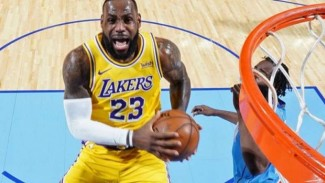 Pemain LA Lakers, LeBron James.