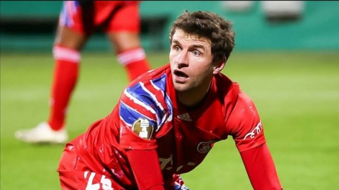 Pemain Bayern Munich, Thomas Mueller.