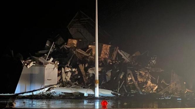 Gempa di Sulbar sebabkan bangunan rusak termasuk kantor Gubernur