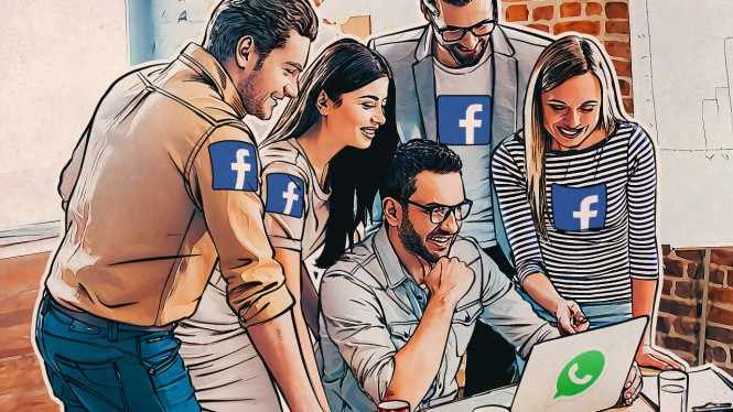 WhatsApp dan Facebook.