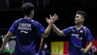 VIVA Bulutangkis: Ganda putra Indonesia, Leo Rolly Carnando/Daniel Marthin.