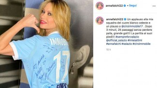 Anna Falchi, suporter Lazio