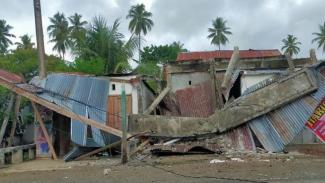 Gempa M 6,2 di Majene Sulbar sebabkan bangunan rumah hancur.