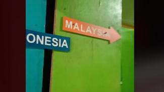 Viral Rumah di Perbatasan, Ruang Tamu di Indonesia Dapur di Malaysia