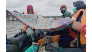 VIVA Militer: Satgas Paskhas TNI AU evakuasi lansia yang terjebak banjir Kalsel