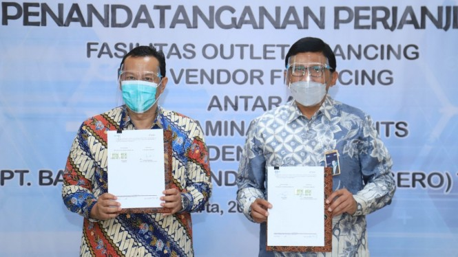 Penandatanganan perjanjian kerjasama BRI dan Pertamina Lubricants (20/01)