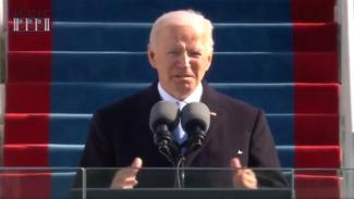 Pidato Presiden AS Joe Biden.