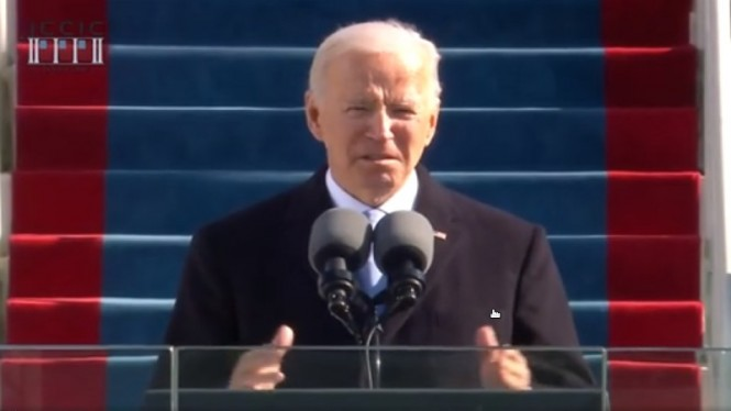 Pidato politik Joe Biden usai resmi dilantik sebagai Presiden AS ke-46