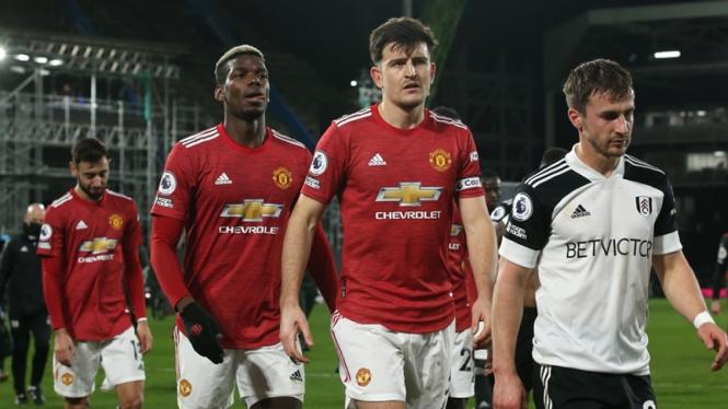 Paul Pogba dalam pertandingan Manchester United melawan Fulham